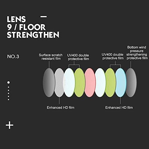 lentes granel Gafas unisex hombres adolescentes 90 Horned de Vintage Rimmed niños Retro a espejo para gran gafas tamaño de sol retro de UV400 mujeres Gafas Lens Aolvo Green sol amp; sol de Frame de p polarizadas Black ZawqPrZ