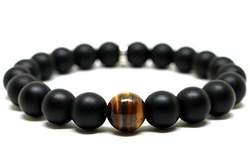 Tibetan Onyx - LATiSE Black Onyx Tibetan Charm Bracelet (Large)