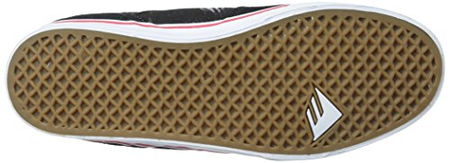 black Emerica Nero da Vulc da The Skateboard White Red Low Scarpe Uomo Reynolds zrxv1qz