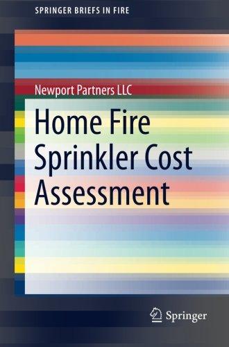 Home Fire Sprinkler Cost Assessment (SpringerBriefs in Fire)