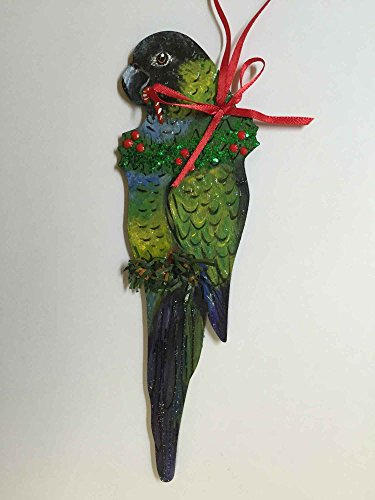Parrot Christmas Tree Ornament - Nanday Conure Parrot Christmas Tree Ornament
