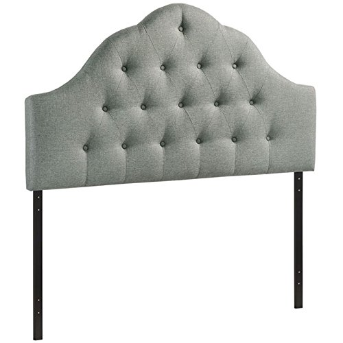 (Modway Sovereign Tufted Button Linen Fabric Upholstered King Headboard in)