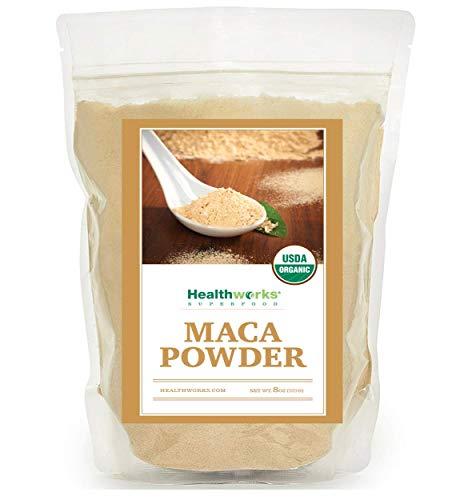 Healthworks Maca Powder Peruvian Raw Organic, 8oz