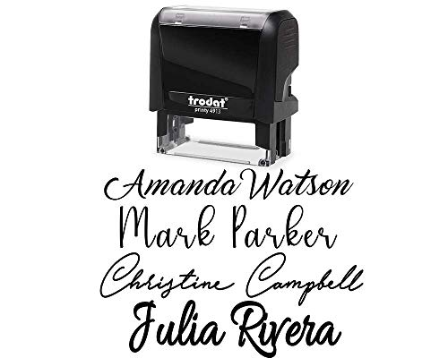 Signature Stamp Customizable Custom Personalized Name Self Inking Stamp Stamp Signature Stamp Personalized Self Inking Stamp Name Stamp