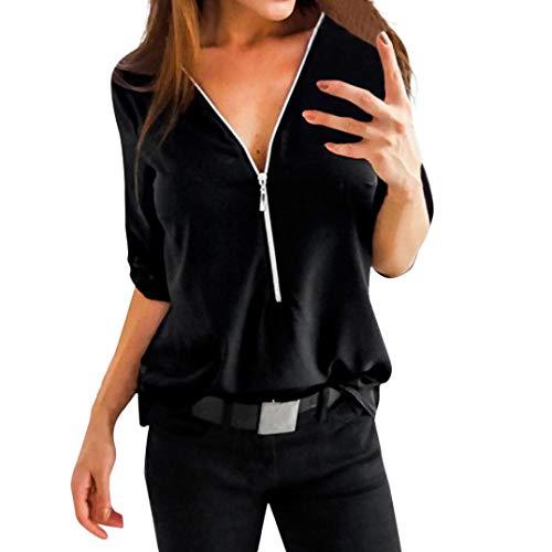 - Clearance!Rakkiss Women T-shirt Blouse Tee Top Off Shouder Neck Sleeve Casual Patchwork Tops