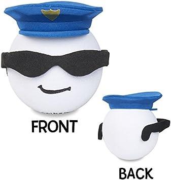 Coolballs Hero Series Rear View Mirror Dangler Hanger Antenna Ball Auto Accessory Cool Cop Police Policeman Officer Car Antenna Topper