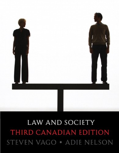 Law and Society, Third Canadian Edition (3rd Edition)