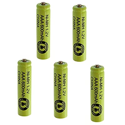 5pc Exell AAA Sz Rechargeable Battery 600mAh NiMH 1.2V Button Top Cell USA SHIP