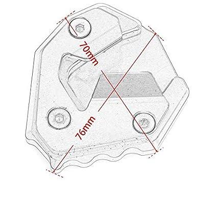 Color : Black blue MUJUN Riserva 2019 nuovo logo for BMW S1000 S1000XR XR 2015 2016 2017 2018 2019 Cavalletto laterale del piede stand di estensione Pad Accessori for moto