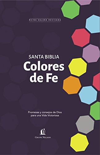 Santa Biblia RVR77  - Colores de fe: Promesas y consejos de Dios para una vida victoriosa (Spanish - Mall Fe Santa Stores