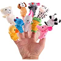 10pcs/lot Cute Animals Rabbit Dog Bear Finger Puppet Plush Toys Doll For Baby Early Educational Toys Birthday Christmas…