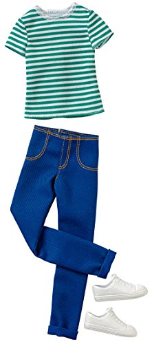 (Barbie Ken Fashion Casual Stripe Shirt & Jeans)