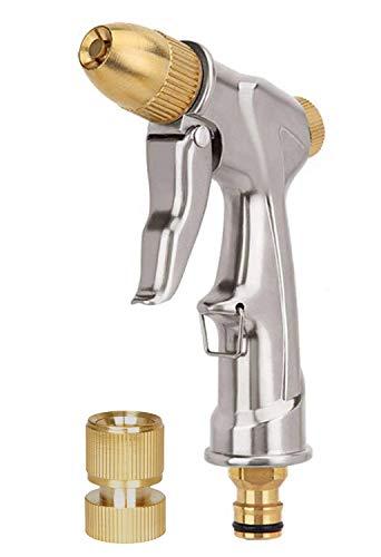 V.C.Formark Garden Hose Nozzle Heavy Duty Metal Spray Gun Sprayer Brass for Car Washing,Plants Watering,Pets Shower,Floor ()