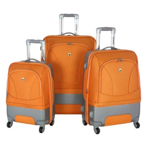 Olympia Luggage Majestic 3 Pack Expandable Set, Orange, O...