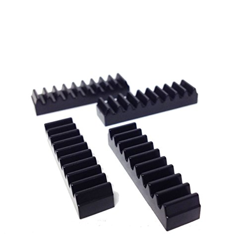 Piezas de Lego®: Technic, cremallera 1 x 4 (paquete de 4 - negro)