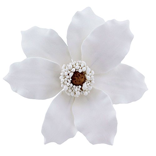(Global Sugar Art Clematis Sugar Flowers White, 9 Count by Chef Alan Tetreault)