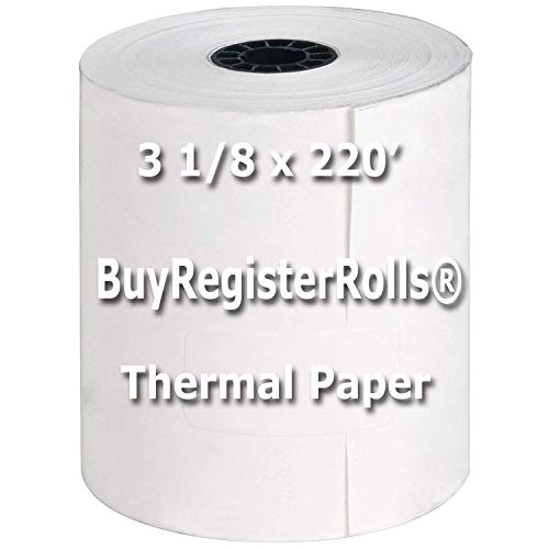 (3-1/8 x 220' (50 Rolls) Thermal Paper Rolls BPA Free Made in USA From BuyRegisterRolls)