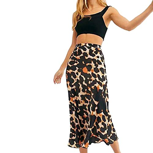 Fashion Women Leopard Hip Skirt Print Night Out Tight Fitting Buttock Skirt Beautyfine Black