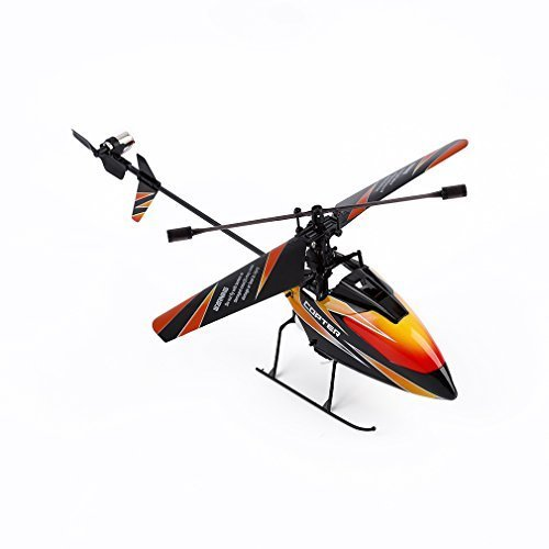 RC Helicopter, Advanced WLtoys V911 Remote Control Mini Single Propeller R/C Helicopter with 2.4 GHz 4CH Gyro (Black&Orange)