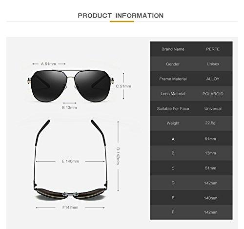 De c4 para Mujer Sol para Aviator Hombre Gafas C1 400 Polarizadas Protección UV dxC5ZWYn