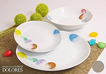 Albalu.it | Offerta servizio piatti moderni da tavola colorati in ...
