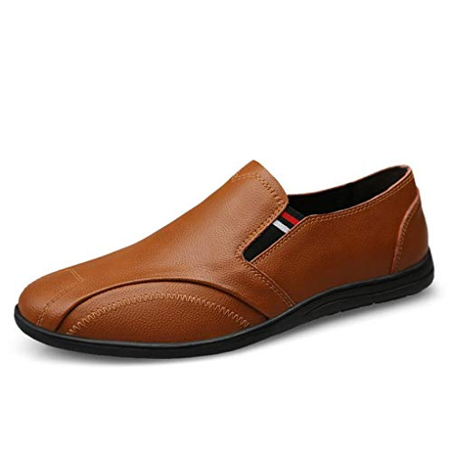 Slip Perezosos Azul YaXuan Marrón Hombre y Planos Negro Mocasines Formales Zapatos Primavera Zapatos Marrón Zapatos Otoño Cuero conducción Ocasionales de Blanco Mocasines Ons Zapatos de 6wS8r1q6
