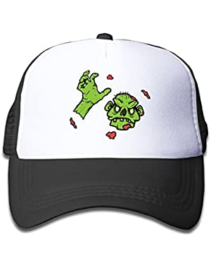 Green Red Zombie Head Kids Baseball Cap Cute Hat