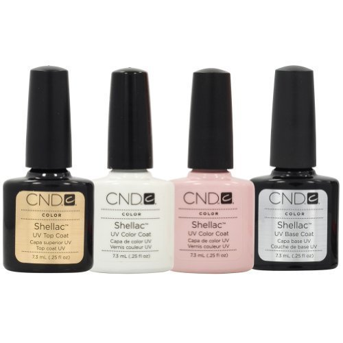 Cnd Shellac French Manicure Kit Top Base Coat Color Nail Polish Gel White Pink Buy Online In