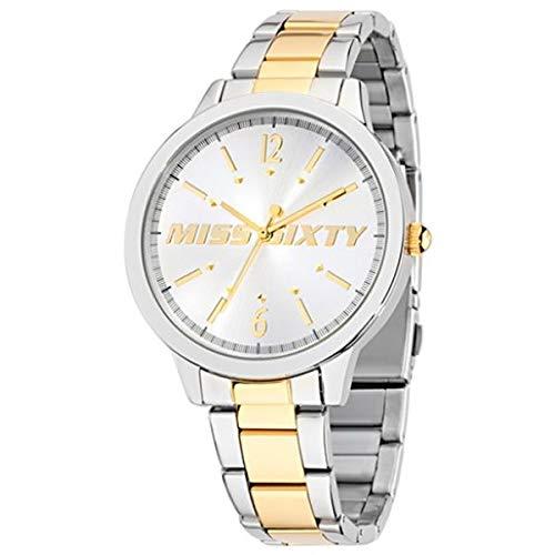 Miss Sixty Reloj de Cuarzo Hypnotic Plateado/Dorado 42 mm: Amazon.es: Relojes