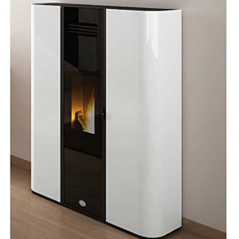 Estufa de Pellets de Eva Calor Diva 9,5 Kw, Color Blanco ...