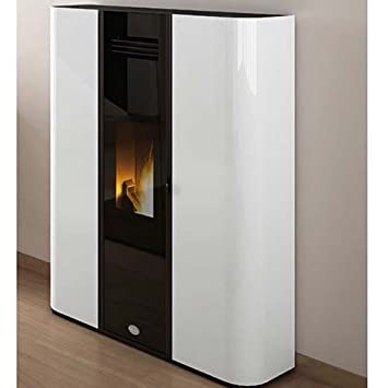 Estufa de Pellets de Eva Calor Diva 9,5 Kw, Color Blanco: Amazon.es: Hogar