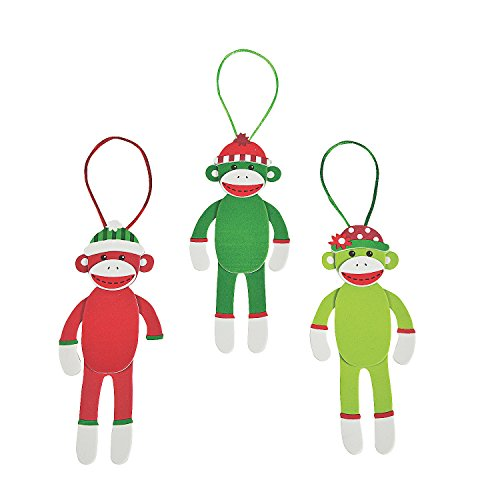 Christmas Sock Monkey Christmas Ornament Craft Kit]()