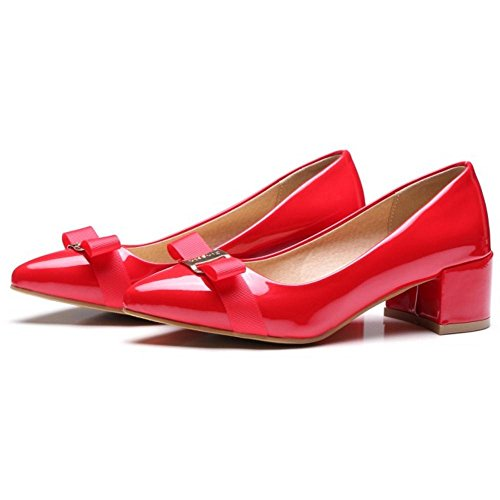 Coolcept Zapatos de Tacon Medio para Mujer Red