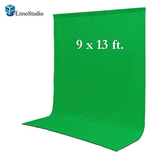 LimoStudio Photo Video Photography Studio 9x13ft Green Fabricated Chromakey Backdrop Background Screen, AGG1855 Chroma Key Digital Backdrops