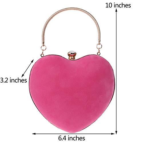 Femme Bourse Chaîne Fête Soiree Main Maquillage Clutch pour Pochette Rose Mariage Sac Bandouliere à Sac Bal OnvTqEvw