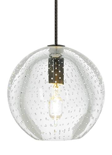 Tech Lighting 700FJBUECZ Bulle - One Light Freejack Pendant, Antique Bronze Finish with Clear Glass