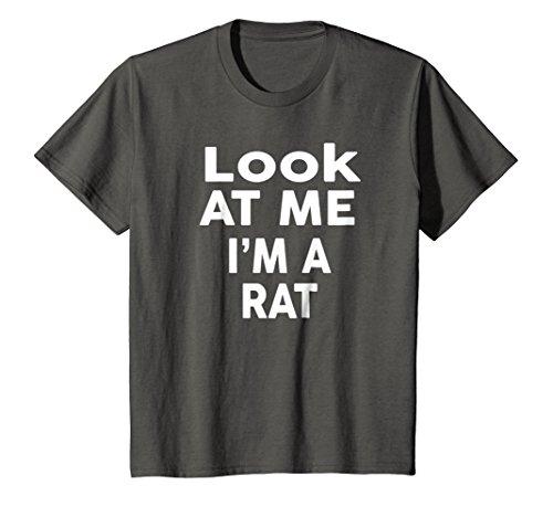 Kids Look At Me I'm A Rat T-Shirt Halloween Costume Shirt 12 Asphalt