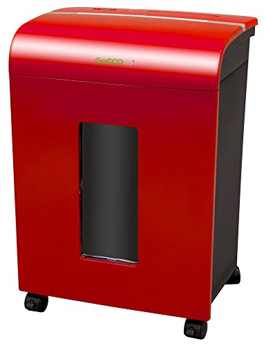 GoECOlife GMW120Pii Limited Edition 12-Sheet High Security Microcut Paper Shredder, Red