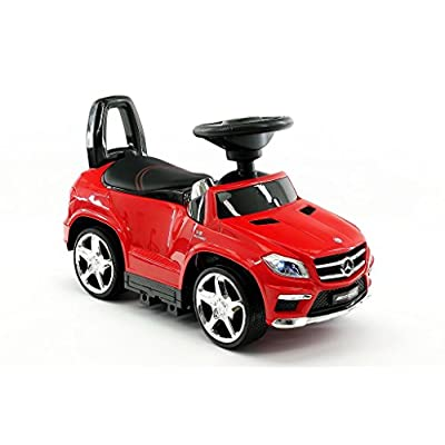Licensed MERCEDES GL63 KIDS CONVERTIBLE RIDE ON PUSH AND FOOT TO FLOOR CAR | RED: Toys & Games