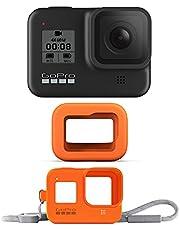 GoPro HERO8 Black Bundle - Cámara HERO8 Black + Floaty + Funda Sleeve Lanyard Hyper Orange