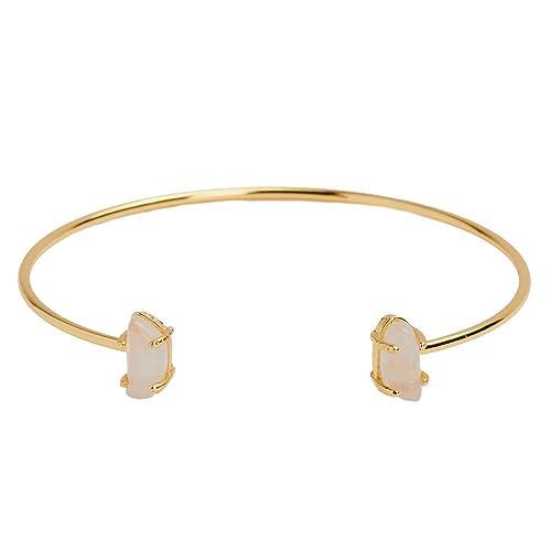 546ebfad2ed7 LuckyLy – Pulseras Mujer Ivy – Pulseras Oro con Piedras – Brazalete con  Estructura Baño de