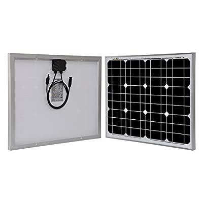 Richsolar 10 Watt 12 Volt Off Grid Portable Monocrystalline Solar Panel for RV Marine Boat