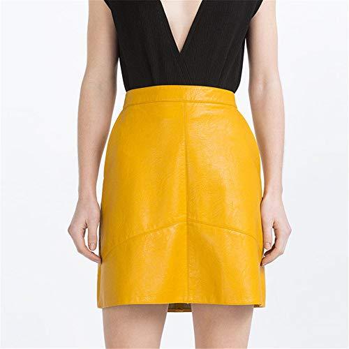 LLS-Jupe Courte/Midi Jupe/Femmes Rtro Jupe Basique yellow