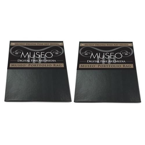 Museo 2 Pack Portfolio Rag Fine Art Archival Inkjet Paper for Digital Printing, Extra Smooth Matte Surface, 300 gsm, 15 mil, 8.5x11