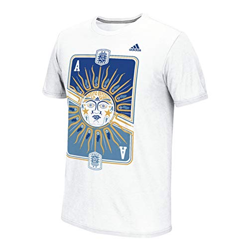 Adidas Graphic - adidas Copa Argentina Men's White Graphic Climalite Performance T-Shirt (Small)