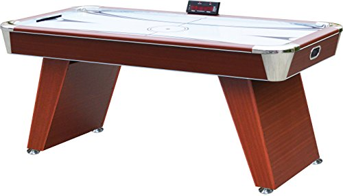 Playcraft Derby Air Hockey Table, 6-Feet, Cherry Wood Grain