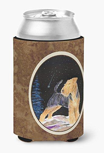 (Starry Night Welsh Terrier Can or Bottle Beverage Insulator Hugger)