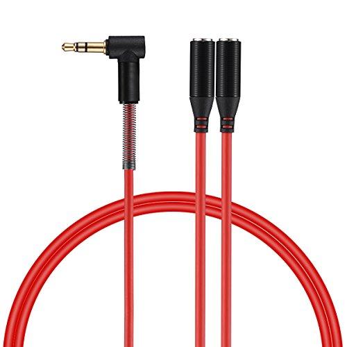 Poweradd Headphone Splitter, Stereo Audio Y Jack Spilitter C