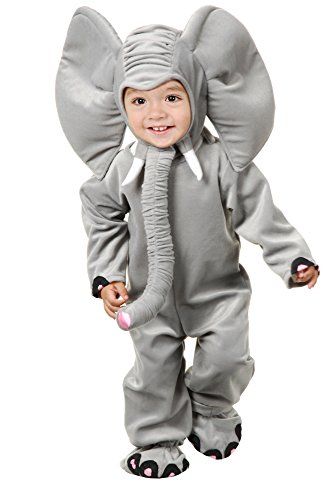 Charades Little Elephant Costume Plush Costume, Grey