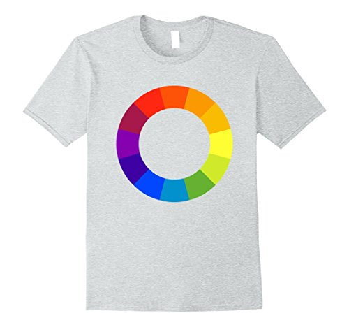 Mens Color Circle Palette Shirt Artist Painter Art Teacher Tshirt Large Heather ()